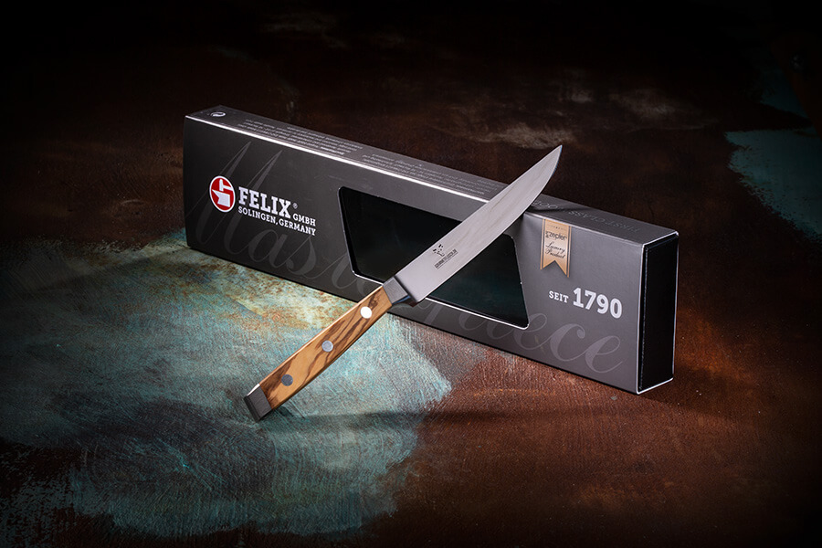 Bild 1 - FELIX - FIRST CLASS WOOD STEAKMESSER, 12CM